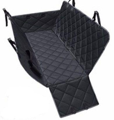 Автогамак  для собак с защитой дверей черный