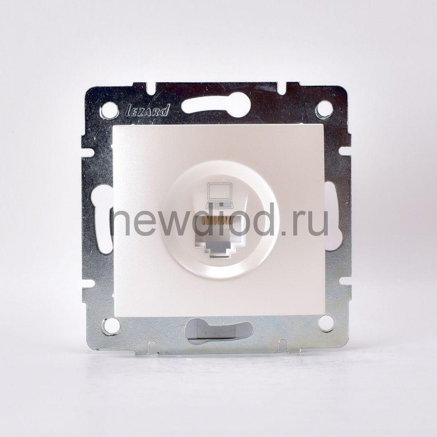 KARINA Розетка компьютерная жемчужно-белый перламутр (10шт/120шт)