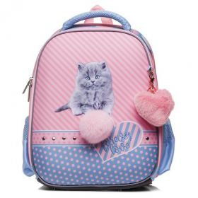 "Рюкзак Hatber Ergonomic Plus  ""Пушистый котенок"" 38х29х6, розовый"