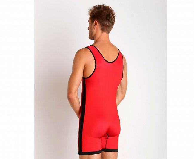 Трико борцовское Adidas двухстороннее Wrestling Reversible Singlet сине-красное, размер M, артикул aS103r