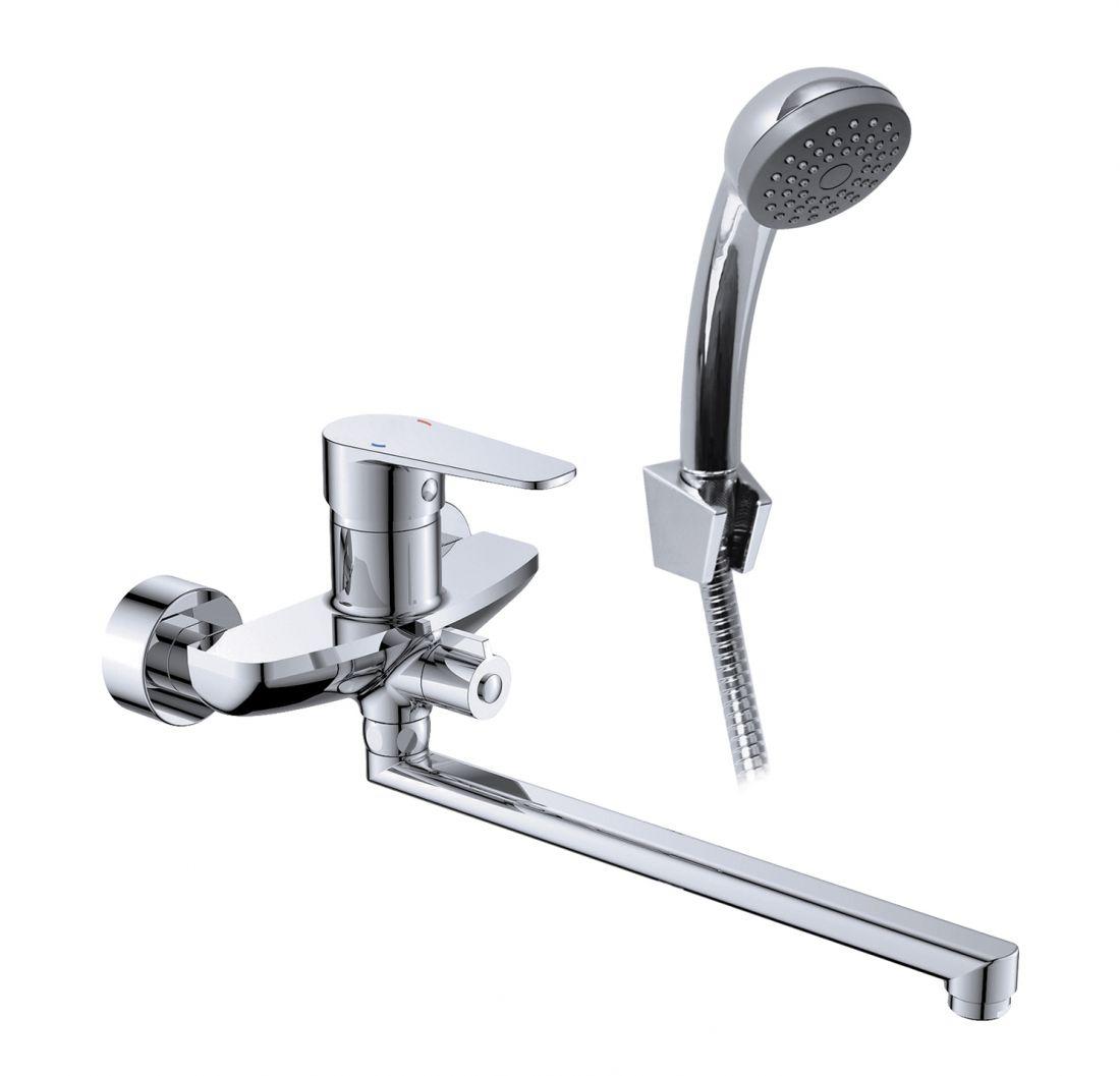 Смеситель для ванны с длинным изливом с аксессуарами MDN1600