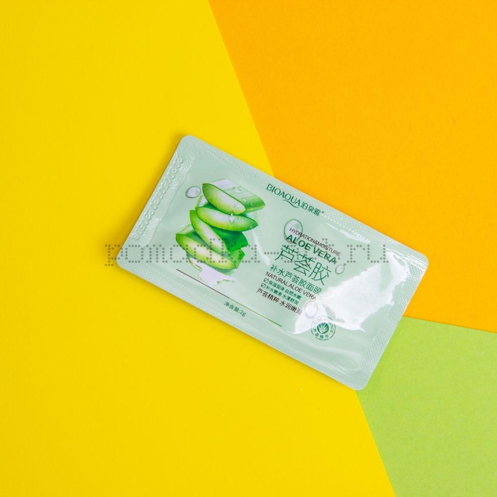 Оригинал BIOAQUA Разовая ночная несмываемая маска  с экстрактом Алоэ Вера
