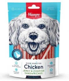 Wanpy Dog Лакомство курица с треской в форме сэндвича 100 г