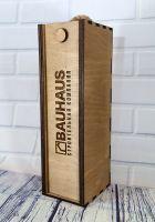 Деревянная коробка пенал под алкоголь с наполнителем