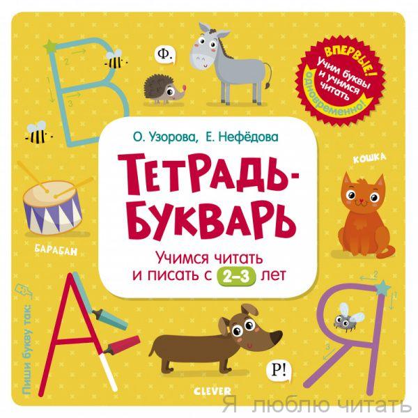 Тетрадь-Букварь. Учимся читать и писать с 2-3 лет (большой формат)