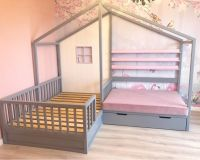 Кровать Домик угловой Fairy Land №24 (для двоих детей)