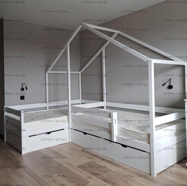 Кровать Домик угловой Fairy Land №3+ (для двоих детей)