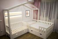 Кровать Домик угловой Fairy Land №29 (для двоих детей)