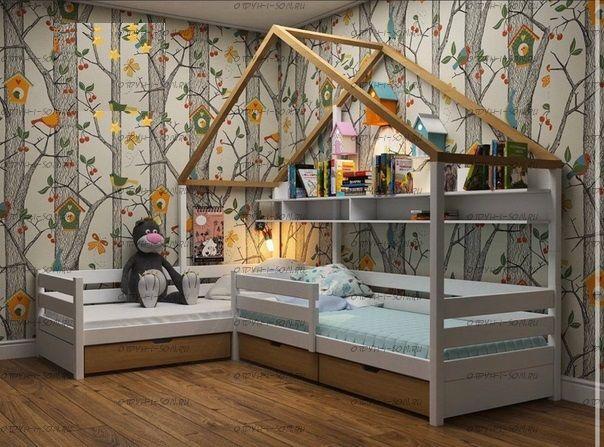 Кровать Домик угловой Fairy Land №31 (для двоих детей)