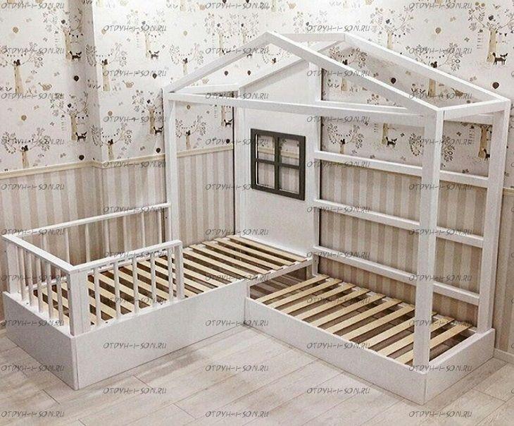 Кровать Домик угловой Fairy Land №32 (для двоих детей)