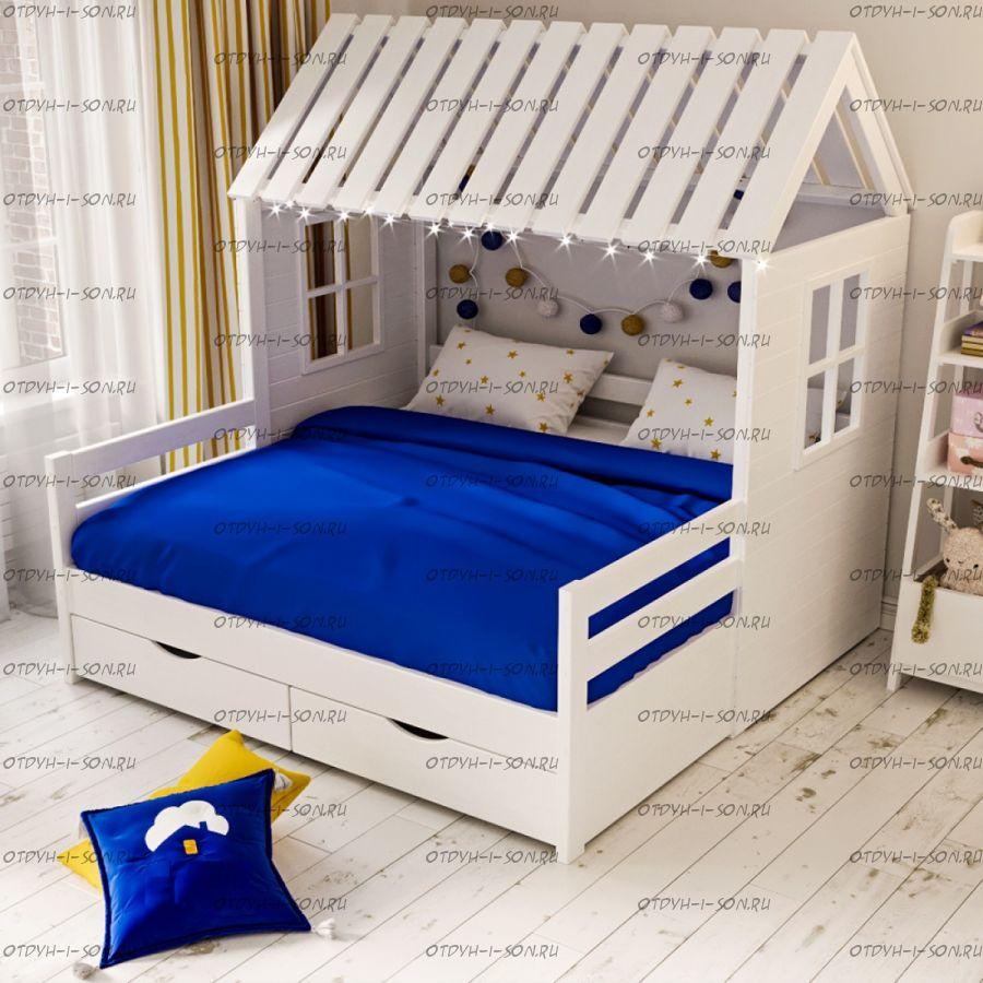 Кровать Домик угловой Butterfly №11-dubble