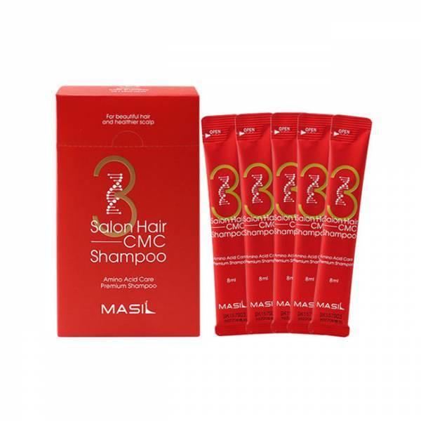 Восстанавливающий профессиональный шампунь с керамидами Masil 3 Salon Hair CMC Shampoo мини версия