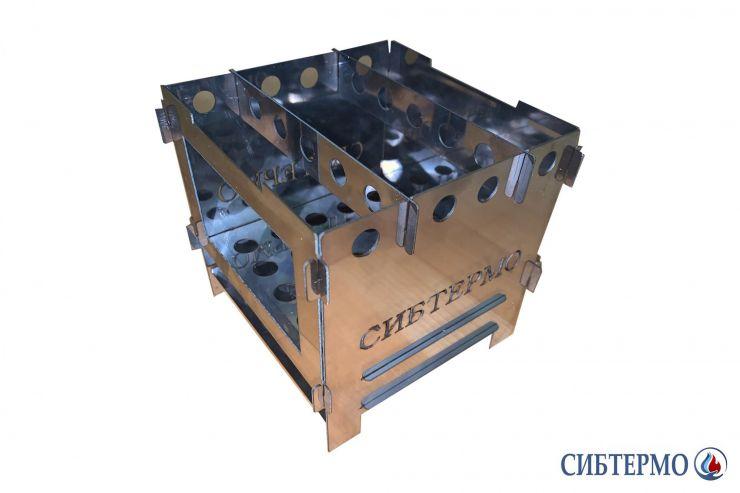 Печь Сибтермо щепочница нержавейка 1мм