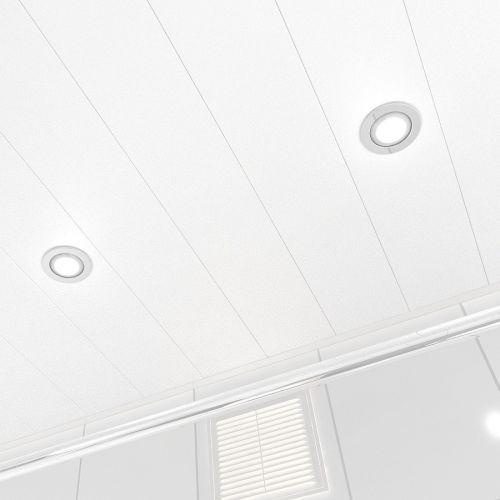 Потолок реечный Cesal C01 Жемчужно-белый Глянцевый