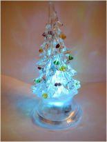 Светящаяся светодиодная ёлочка с шишками Marry Christmas 8 см.