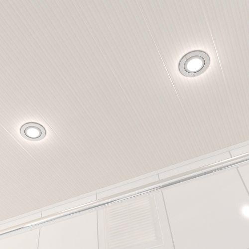 Потолок реечный Cesal 210 Бежевый штрих