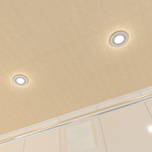 Потолок реечный Cesal 010B Золотистый жемчуг