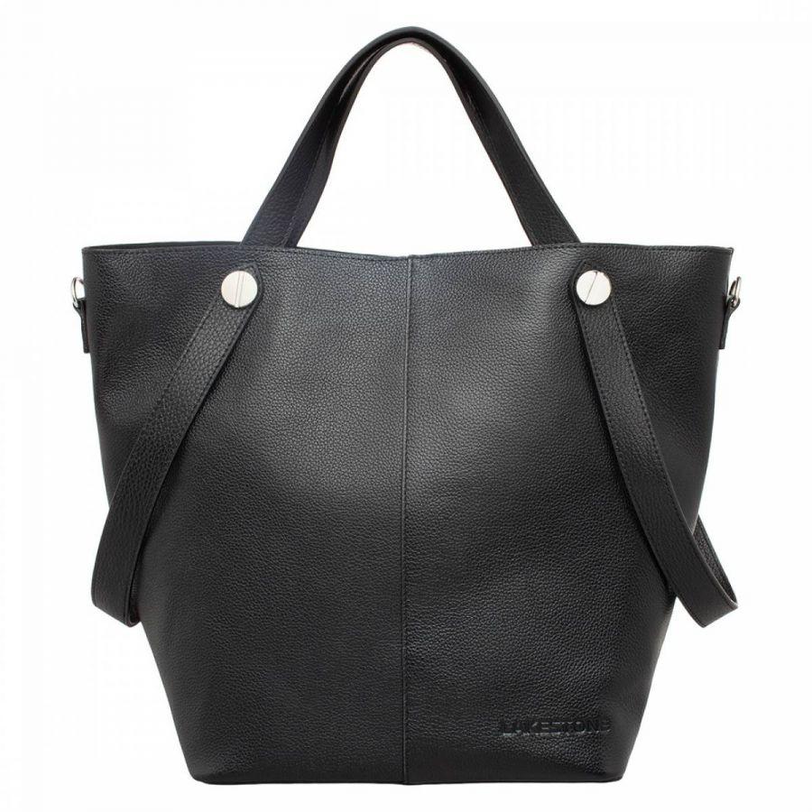 Женская кожаная сумка Lakestone Bagnell Black
