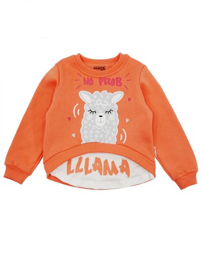 "Свитшот для девочек 3-7 лет Bonito kids ""Lama"""