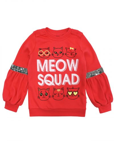 """Свитшот для девочек 3-7 лет Bonito kids """"Meow squad"""""""