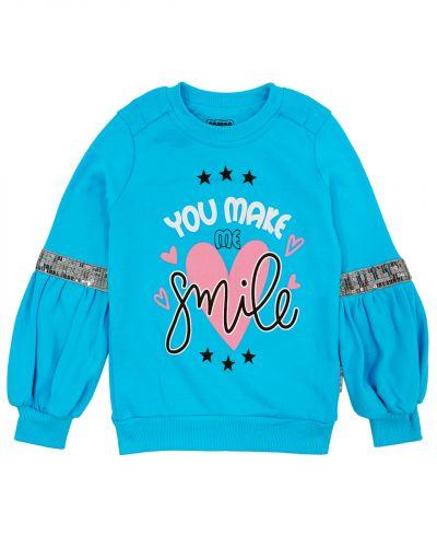 "Свитшот для девочек 3-7 лет Bonito kids ""Smile"""