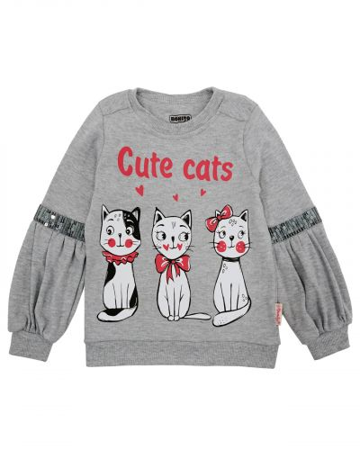 "Свитшот для девочек 3-7 лет Bonito kids ""Cute Cats"""