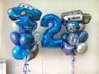 Композиция из гелиевых шаров День рождения № 174
