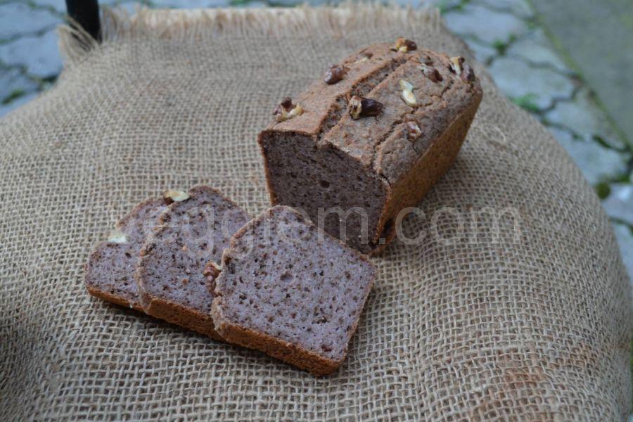 Безглютеновый хлеб из зелёной гречки с грецкими орехами,300 грамм