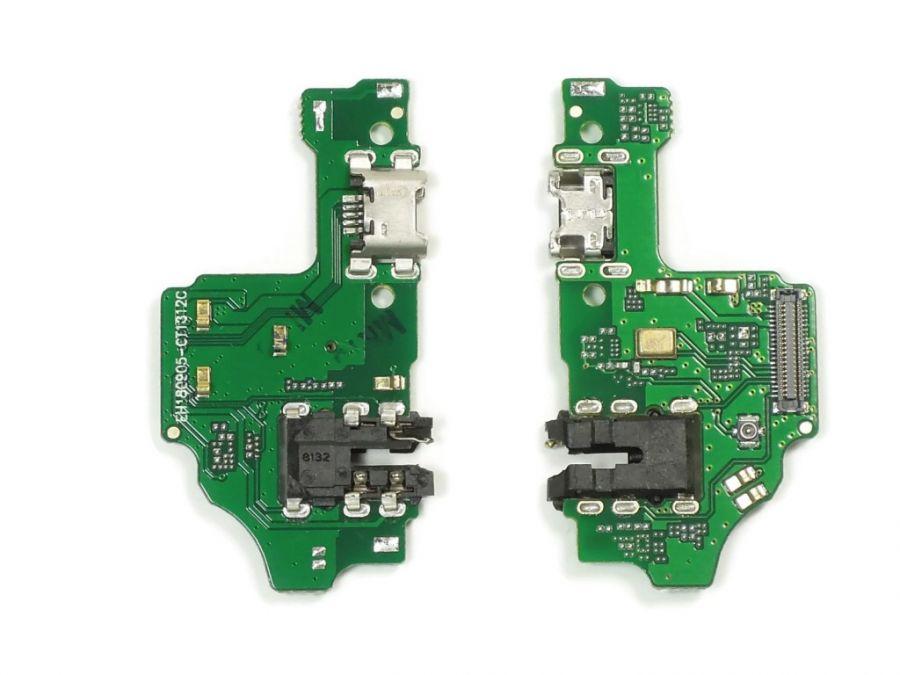 FLC (Шлейф) Huawei Honor 8X (на микрофон, разъем гарнитуры и системный разъем)