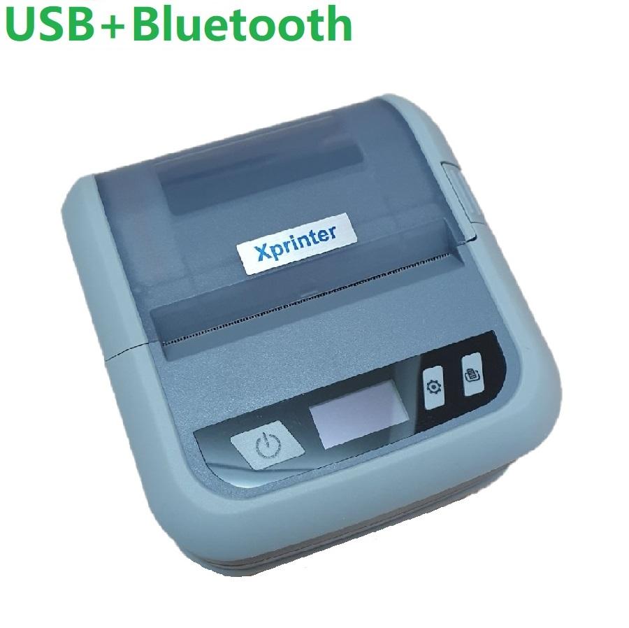 Мобильный принтер этикеток Xprinter XP-P323B (USB + Bluethooth) серый