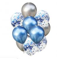 Цветные латексные шары воздушные шары с конфетти 10 шт