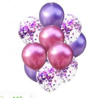 Цветные латексные шары воздушные шары с конфетти 19