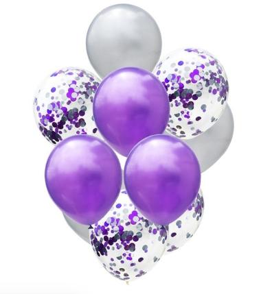 Цветные латексные шары воздушные шары с конфетти 25