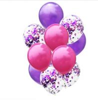 Цветные латексные шары воздушные шары с конфетти 23