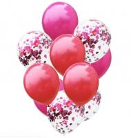 Цветные латексные шары воздушные шары с конфетти 22