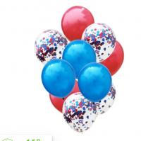 Цветные латексные шары воздушные шары с конфетти 21