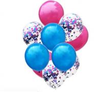 Цветные латексные шары воздушные шары с конфетти 27