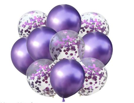 Цветные латексные шары воздушные шары с конфетти 34