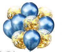 Цветные латексные шары воздушные шары с конфетти 35