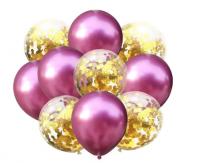 Цветные латексные шары воздушные шары с конфетти 36