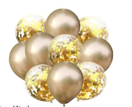 Цветные латексные шары воздушные шары с конфетти золото