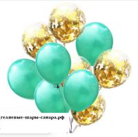 Цветные латексные шары воздушные шары с конфетти 44