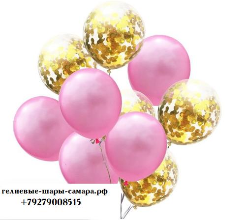 Цветные латексные шары воздушные шары с конфетти 47