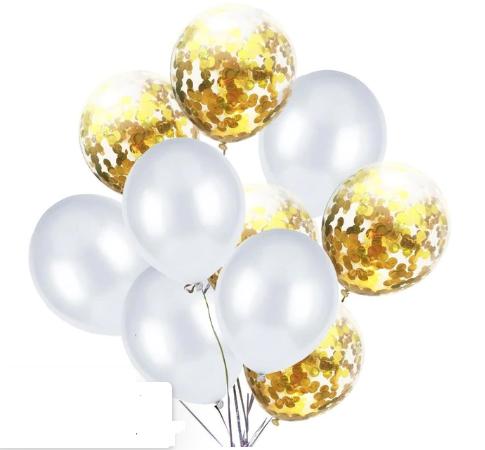 Цветные латексные шары воздушные шары с конфетти 51
