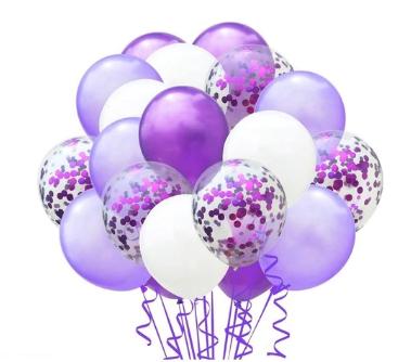 Цветные латексные шары воздушные шары с конфетти 56