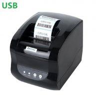 Термальный принтер этикеток Xprinter XP-365B black черный USB