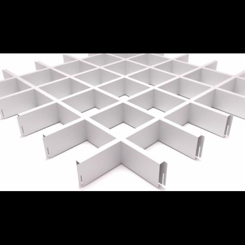 Потолок Грильято 100х100 белый матовый