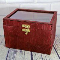 Коробка (шкатулка) из дерева с прозрачной крышкой