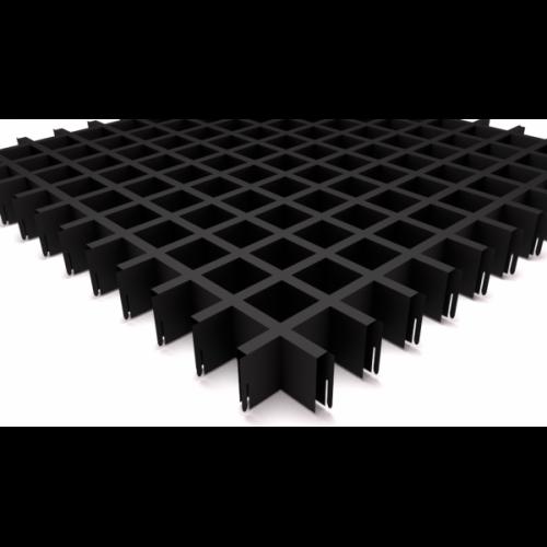 Потолок Грильято 50х50 черный матовый