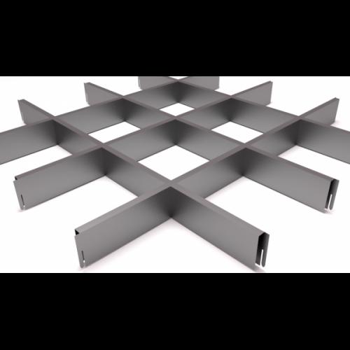 Потолок Грильято 150х150 металлик
